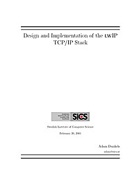 Design and Implementation of the lwIP Stack